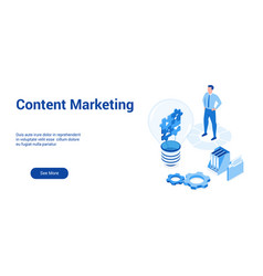 content marketing 3d template 2 vector image