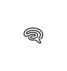 Creative abstract brain line logo vector