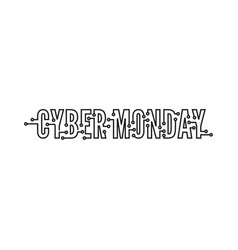 cyber monday with tech circuit board vector image