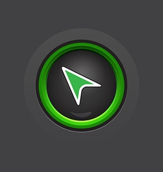 Dark circle glossy cursor button vector