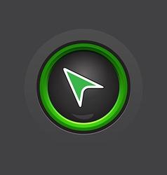 dark circle glossy cursor button vector image