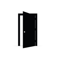 door open icon vector image