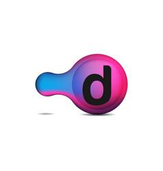 Dots letter d logo d letter design with dots vector