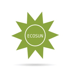 eco sun green vector image