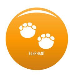 Elephant step icon orange vector