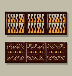 ethnic handmade ornament aztec geometric vector image