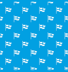 flag of sweden pattern seamless blue vector image