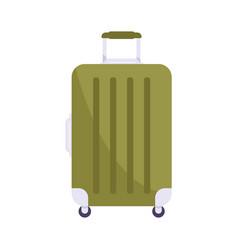 flat lugagge bag icon vector image