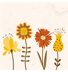 Floral background in bright colors vector