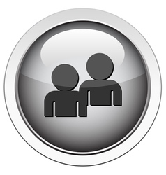 forum buddy icon vector image