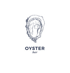fresh oysters luxury seafood of vector image