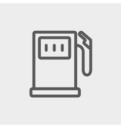 Gas pump thin line icon vector