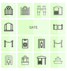 Gate icons vector
