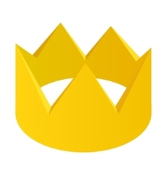 Gold crown isometric 3d icon vector image