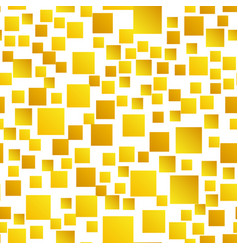 Gold squares seamless pattern vector