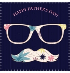 Happy fathers day card 2 vector image