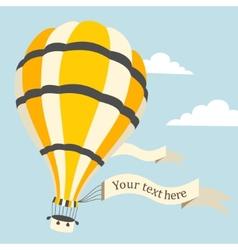 Hot air balloon on sky vector