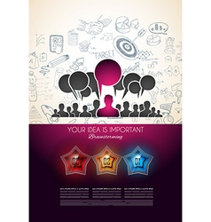Infographics complex layout with option buttons vector image