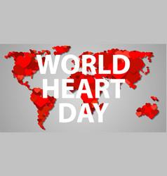 International heart day concept banner cartoon vector
