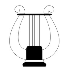 isolated lyre icon musical instrument vector image