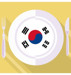 Kitchen of South Korea vector
