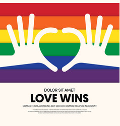 Lgbt community poster template background vector