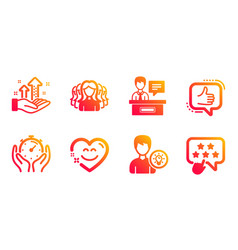 like person idea and women group icons set smile vector image