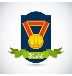Medal award design vector