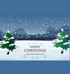 merry christmas out door template vector image