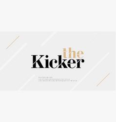 modern alphabet letters font and number elegant vector image