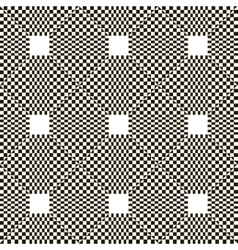 Monochrome chequered pattern with squares vector image