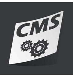 Monochrome CMS settings sticker vector