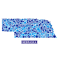 nebraska state map connections composition vector image
