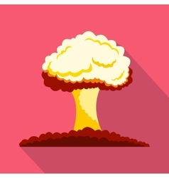 Nuclear explosion icon flat style vector image