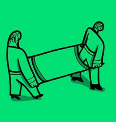 nurses load stretcher vector image