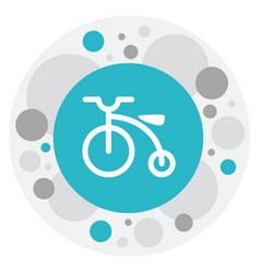 Of family symbol on bicycle vector