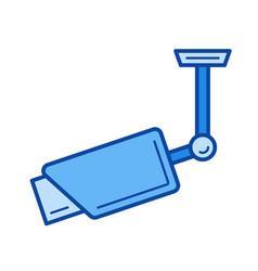 outdoor surveillance camera line icon vector image