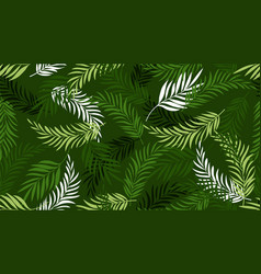 palm leaf pattern green tropical leaves vector image