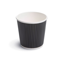 paper coffee cup 3d vector image