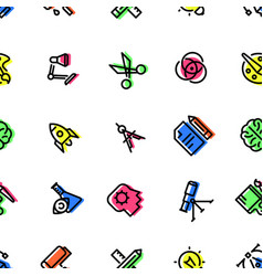 pattern of creative icons vector image