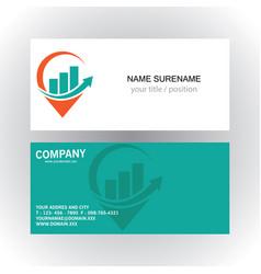 Position graphic arrow logo business card vector