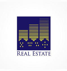 real estate city vector image