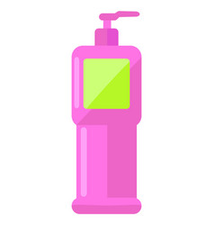 realistic bottle with dispenser airless pump vector image