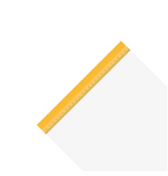Ruler icon flat style vector