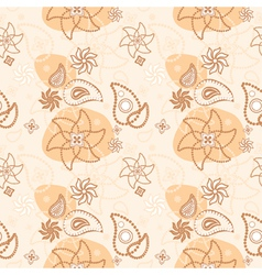 seamless floral texture of decorative flowers vector image