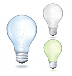 set of bulbs vector image