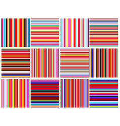 Set of color lines seamless pattern vector