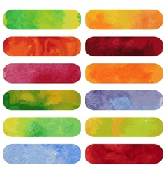 Set of colorful watercolour banners vector