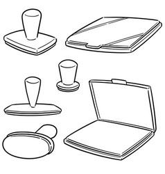 set of rubber stamp vector image