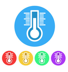 set of thermometer flat icon on white stock vector image